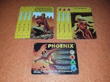 OVERPOWER Phoenix LOT - 7 X-Men cards - hero Mutant Hound Telepathic Power
