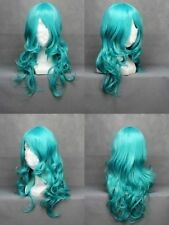 65cm Long Sailor Neptune Green Curly Wavy Anime Cosplay wig Z7