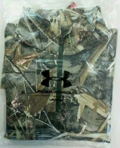 Under Armour Fitted Shirt M Hunting Infrared Scent Control ColdGear Realtree New