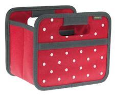 Faltbox Mini, Hibiskus Rot, Punkte Aufbewahrung Box für Auto Schrankwand Regal