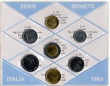 REPUBBLICA ITALIANA - SERIE DIVISIONALE MONETE ITALIA 1984 FIOR DI CONIO