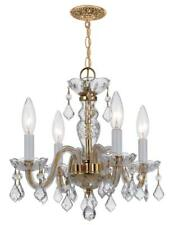 Crystorama 1064-Pb-Cl-Mwp Traditional crystal Mini Chandeliers 15in Brass