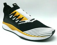 PUMA Mens Tsugi Jun US12 Ignite Evoknit Mid Running Shoes 36548910 Black Mustard
