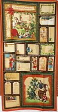 "1 Panel Wilmington ""Christmas Emporium"" Christmas Fabric Panel 23"" x 44"""
