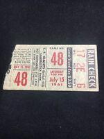 Vintage 7 15 1961 San Francisco Giants Ticket Stub Clemente Mays Cepeda Pirates