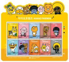 2019 Kakao Friends Stamps Sheet (10 stamps) + Information Sheet