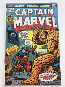 Captain Marvel 26, Marvel 1973, Thanos, Thing
