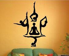 Yoga Gruppe Spirituelles Wandtattoo Wallpaper Wand Schmuck 58 x 76 cm Wandbild
