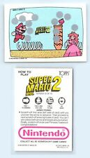 1989 Nintendo Game Pack Topps Super Mario Bros 2 Unscartched Screen Card 10of 10