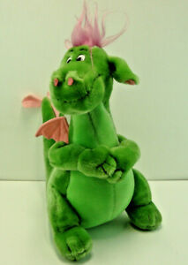 """Vintage Disney's Pete's Dragon ELLIOTT 14"""" Plush"""
