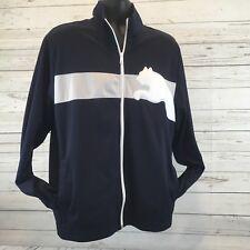 Puma Track Jacket Full-Zip Blue Grey White Extra Large Puma Size L H
