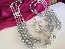 CRYSTAL PEARLS Silver  WEDDING LASSO/LASSO DE BODA EN PERLAS Color Plata