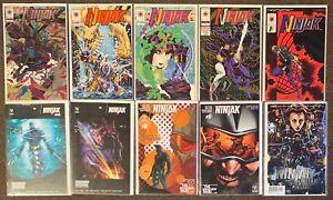 Ninjak #1,2,3,4,8,10,13,6,6,1 Valiant Comics Kindt Braithwaite lot