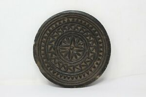 Antique Hand Carved Tribal Design Stone Cookies Mold Dye Plate Rolling Plate