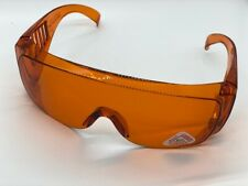 Safety Glasses UV Protective with Fixed Leg Color: Orange 1pc/pk