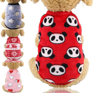 Puppy Pet Small Dog Clothes Winter Warm Fleece Vest Sweater Costume Apparel