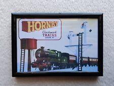 Hornby/Clockwork Trains/Vintage/Advert.(Poster/Framed/Birthday/Gift/Memento).🎁.