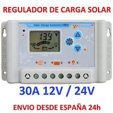 Regolatore de Carica Solare 30A Display LCD 12v/24v Charger Programmabile