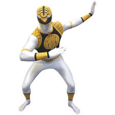 ADULT POWER RANGER WHITE Morph Original Morphsuits party costume MEDIUM SIZE