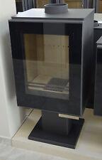 Wood Burning Stove Log Burner Solid Fuel 9-12 kw Top Flue Low Emissions Ceramic