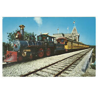 Disneyland Vintage Unused Postcard 1955 Railroad Train at Main St Station D-128