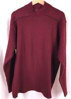 Versace Jeans Couture Mock Neck Sweater Burgundy Maroon Men Size XXL