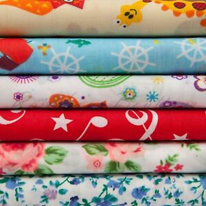 Poly/Cotton printed kids floral quality material Dress making fabric per metre