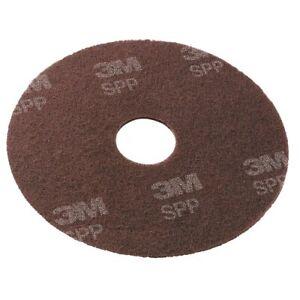 "Scotch-Brite SPP13 Surface Preparation Pad, 13"" Diameter, Maroon, 10/Carton"