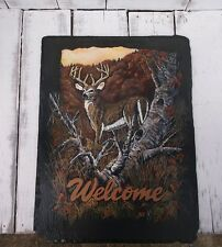 Handpainted Slate Welcome Sign