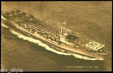 USS Mindoro CVE-120 US Navy Aircraft Carrier postcard