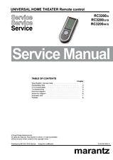 Service Manual-Anleitung für Marantz RC-3200