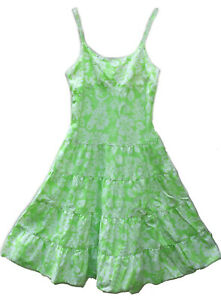 LIMITED TOO ~GIRLS EMBELLISHED TROPICAL FLORAL SUN DRESS~ SZ 10