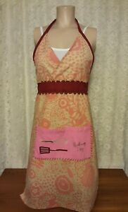 Women's Full Apron Kitchen Embroidered Front Pockets Baking Day