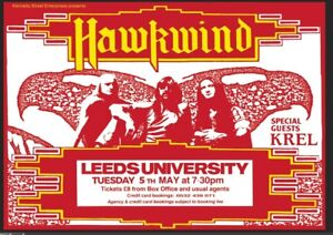 HAWKWIND 5TH MAY 1992 LEEDS UNI A1 SIZE REPRODUCTION POSTER