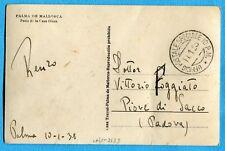1938 UFFICIO POSTALE SPECIALE 10 P.M. 11.01.38 su cartolina di MALLORCA (502485)
