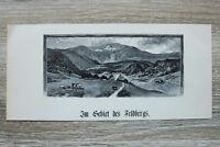 Schwarzwald Gebiet des Feldberg Holzschnitt 1901 EL Emil Lugo Bauernhof Häuser
