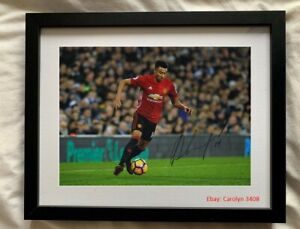 Jesse Lingard Signed Framed Photo Manchester United West Ham England Autograph