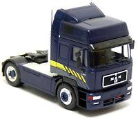 Herpa MAN F2000 SZM Sattel Zugmaschine LKW blau neutral Modell 1:87 H0