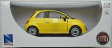 NewRay Fiat 500 gelb 1:24 Neu/OVP Modellauto Kleinwagen Auto Car Retro yellow