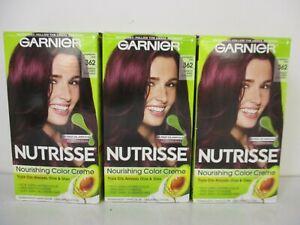 3 Garnier Nutrisse Color Creme Permanent Hair Color Raspberry Jam 362 JL 13487