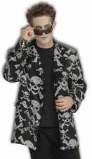 "Skull and Crossbones Skeleton Reaper Costume Sports Jacket X-Large 50"" Chest"