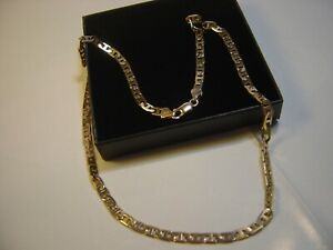 """BEAUTIFUL SOLID 9CT GOLD 18"""" VINTAGE RARE MARINER NECKLACE QUALITY-HEAVY/STRONG"""