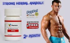 Strong Herbal MAX ANABOLIC STRONG PUMP TESTOSTERONE ECDYSTERONE 500mg