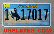 REAL WYOMING COWBOY HORSE LICENSE PLATE NEW GRAPHIC AUTO NUMBER CAR TAG WY 1