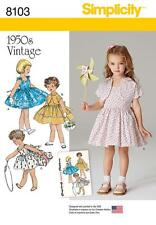 SIMPLICITY SEWING PATTERN CHILD'S DRESS & LINED JACKET SIZE 3 - 8   8103 A