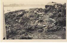 1940's Cape Porpoise Maine Garden & Harbor at the Porpoise Restaurant Pier 77