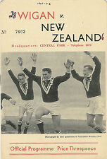 More details for wigan v new zealand 7 oct 1961 wigan rugby league programme