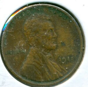 1911-P LINCOLN CENT, EXTRA FINE, OBVERSE SPOT, GREAT PRICE!