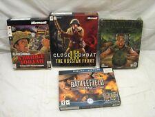 War Strategy Large Box Computer Games Microsoft Close Combat Battlefield 1942 PC