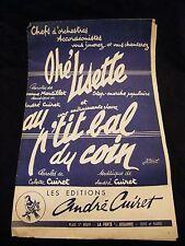 Partition Ohé Lisette Au p'tit bal du coin André Cuiret Music Sheet
